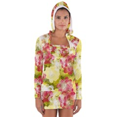 Flower Power Long Sleeve Hooded T Shirt