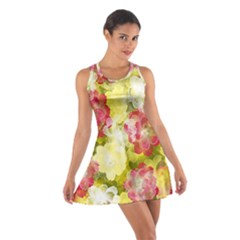 Flower Power Cotton Racerback Dress