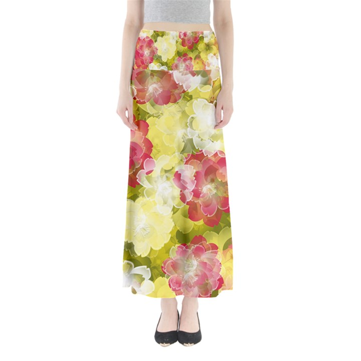 Flower Power Full Length Maxi Skirt