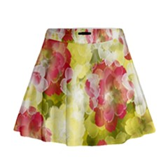Flower Power Mini Flare Skirt