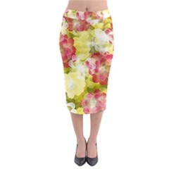 Flower Power Midi Pencil Skirt