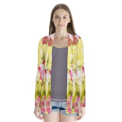 Flower Power Drape Collar Cardigan