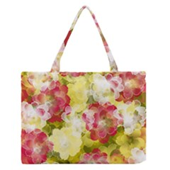 Flower Power Zipper Medium Tote Bag