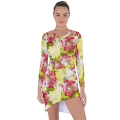 Flower Power Asymmetric Cut Out Shift Dress