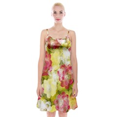 Flower Power Spaghetti Strap Velvet Dress