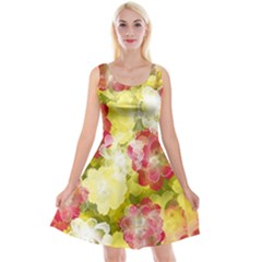 Flower Power Reversible Velvet Sleeveless Dress