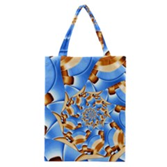 Gold Blue Bubbles Spiral Classic Tote Bag by designworld65