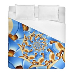 Gold Blue Bubbles Spiral Duvet Cover (full/ Double Size) by designworld65