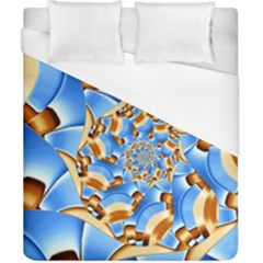 Gold Blue Bubbles Spiral Duvet Cover (california King Size) by designworld65