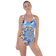 Gold Blue Bubbles Spiral Bring Sexy Back Swimsuit by designworld65