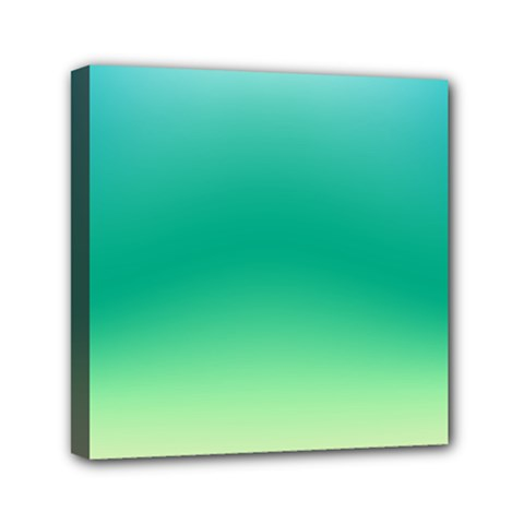 Sealife Green Gradient Mini Canvas 6  X 6