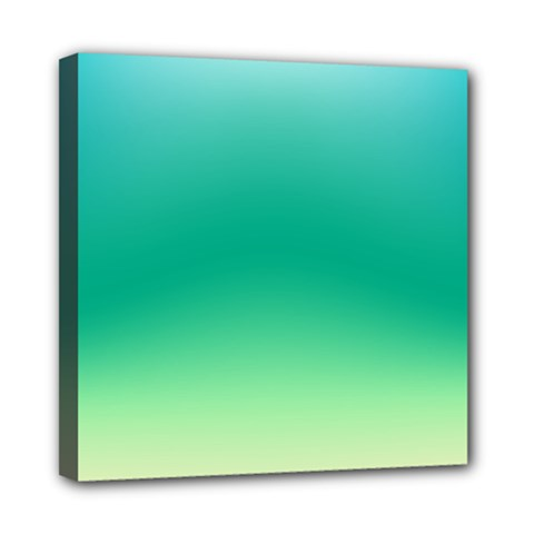 Sealife Green Gradient Mini Canvas 8  X 8