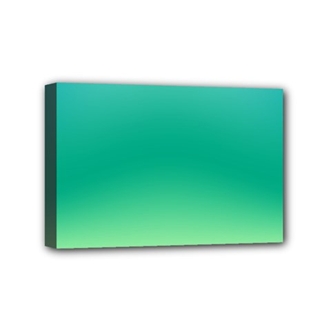 Sealife Green Gradient Mini Canvas 6  X 4