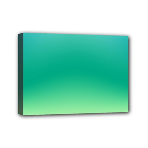 Sealife Green Gradient Mini Canvas 7  X 5