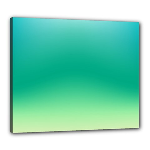 Sealife Green Gradient Canvas 24  X 20