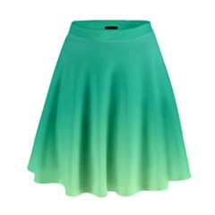 Sealife Green Gradient High Waist Skirt by designworld65