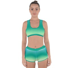 Sealife Green Gradient Racerback Boyleg Bikini Set