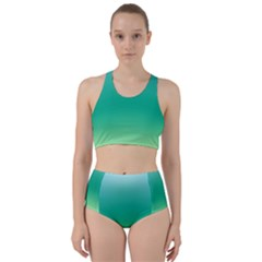 Sealife Green Gradient Bikini Swimsuit Spa Swimsuit