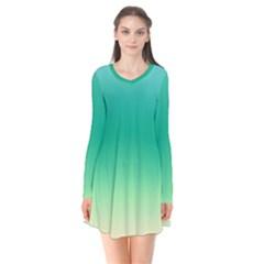 Sealife Green Gradient Flare Dress