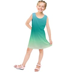 Sealife Green Gradient Kids  Tunic Dress