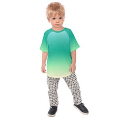Sealife Green Gradient Kids Raglan Tee