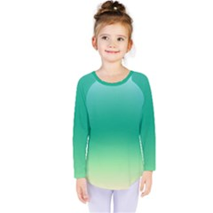 Sealife Green Gradient Kids  Long Sleeve Tee