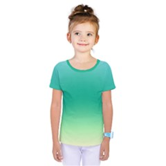 Sealife Green Gradient Kids  One Piece Tee