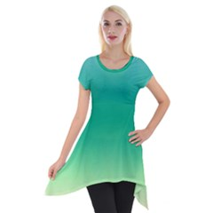 Sealife Green Gradient Short Sleeve Side Drop Tunic
