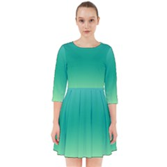 Sealife Green Gradient Smock Dress