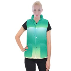 Sealife Green Gradient Women s Button Up Puffer Vest