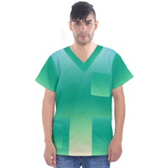 Sealife Green Gradient Men s V Neck Scrub Top