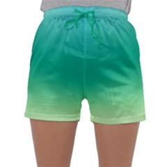 Sealife Green Gradient Sleepwear Shorts