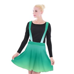 Sealife Green Gradient Suspender Skater Skirt