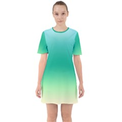 Sealife Green Gradient Mini Dress