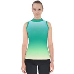 Sealife Green Gradient Shell Top