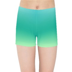 Sealife Green Gradient Kids Sports Shorts