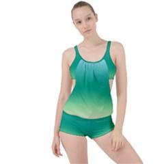 Sealife Green Gradient Boyleg Tankini Set