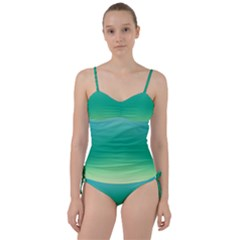 Sealife Green Gradient Sweetheart Tankini Set