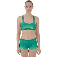 Sealife Green Gradient Women s Sports Set