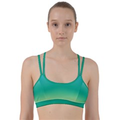 Sealife Green Gradient Line Them Up Sports Bra