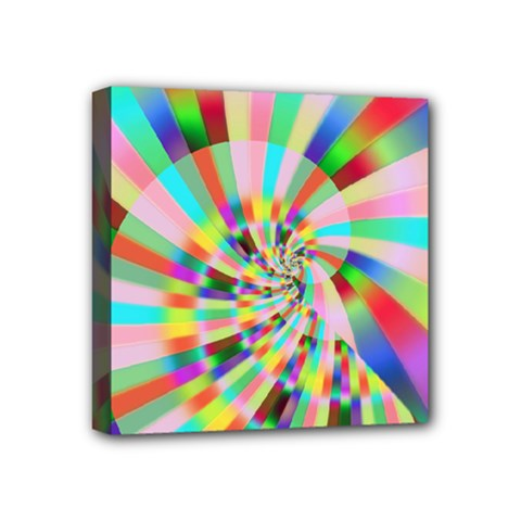 Irritation Funny Crazy Stripes Spiral Mini Canvas 4  X 4