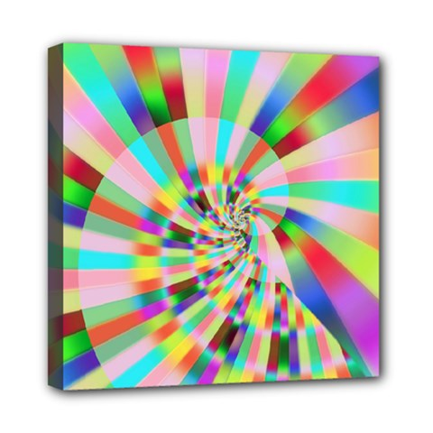 Irritation Funny Crazy Stripes Spiral Mini Canvas 8  X 8