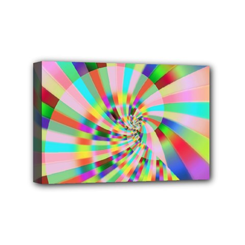 Irritation Funny Crazy Stripes Spiral Mini Canvas 6  X 4