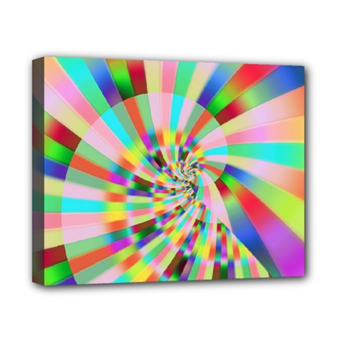 Irritation Funny Crazy Stripes Spiral Canvas 10  X 8