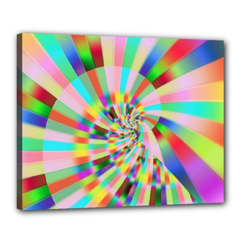 Irritation Funny Crazy Stripes Spiral Canvas 20  X 16