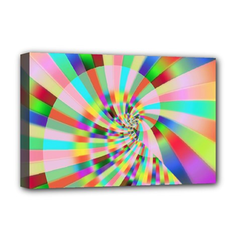 Irritation Funny Crazy Stripes Spiral Deluxe Canvas 18  X 12