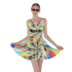 Irritation Funny Crazy Stripes Spiral Skater Dress