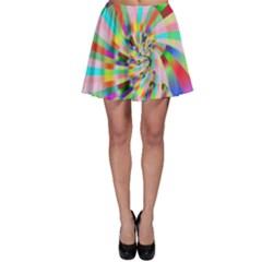 Irritation Funny Crazy Stripes Spiral Skater Skirt by designworld65
