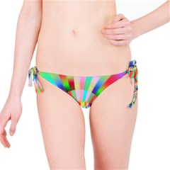 Irritation Funny Crazy Stripes Spiral Bikini Bottom