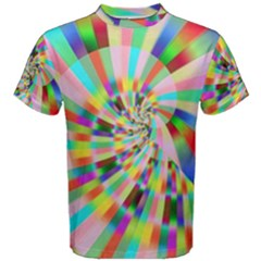 Irritation Funny Crazy Stripes Spiral Men s Cotton Tee
